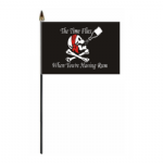 Pirate Time Flies When You're Having Rum Hand Flag - Small